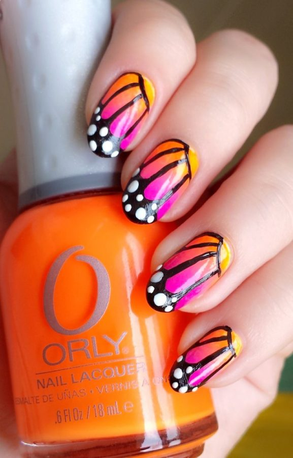 summer-neon-gradient-butterfly-nails-bmodish