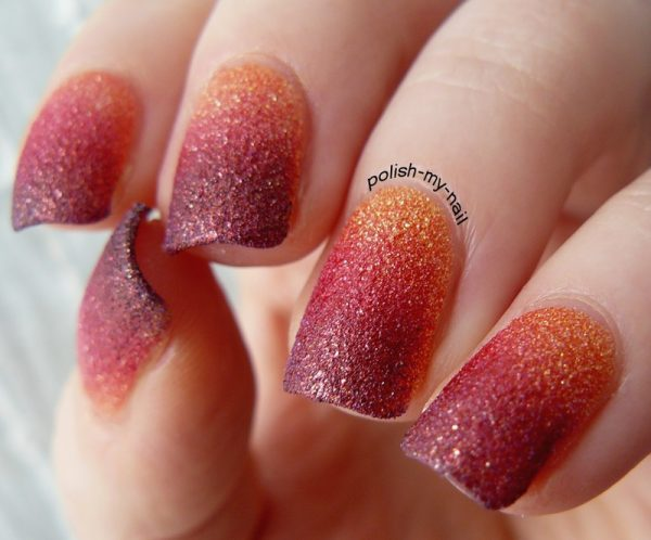 texture sunset gradient nails bmodish