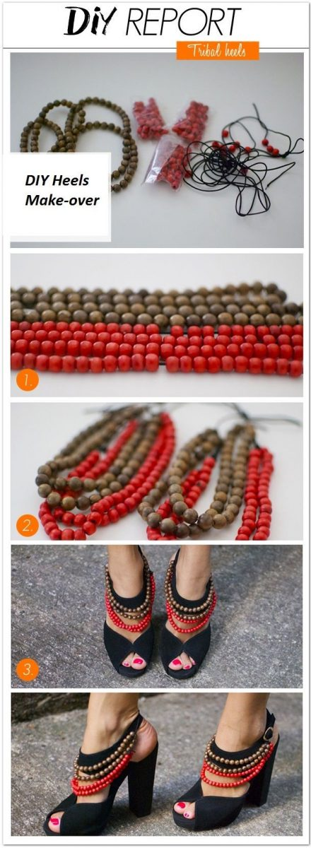 tribal heels diy bmodish