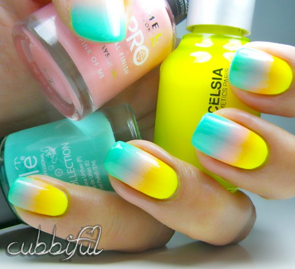 tropical gradient nails bmodish
