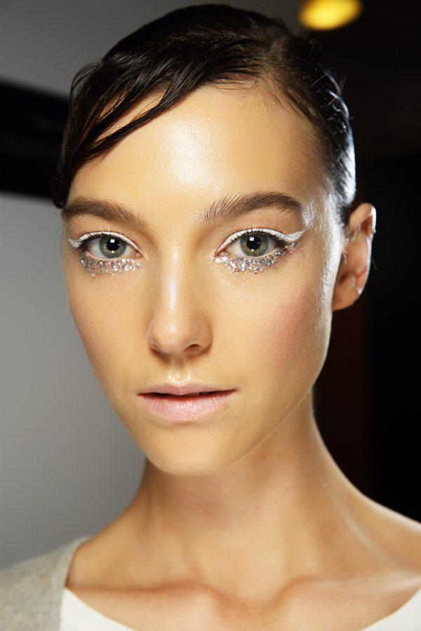Karla Spetic white glitter eyes bmodish