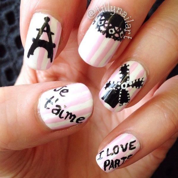 Cute I Love Paris Nail Art Collections Be Modish