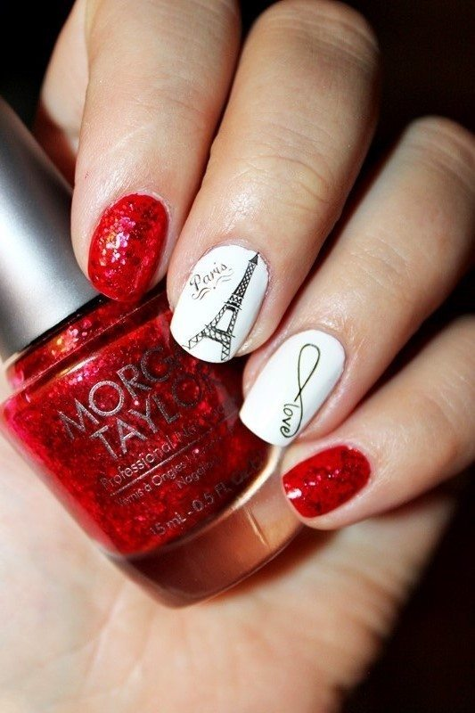 Valentine in paris nailart bmodish