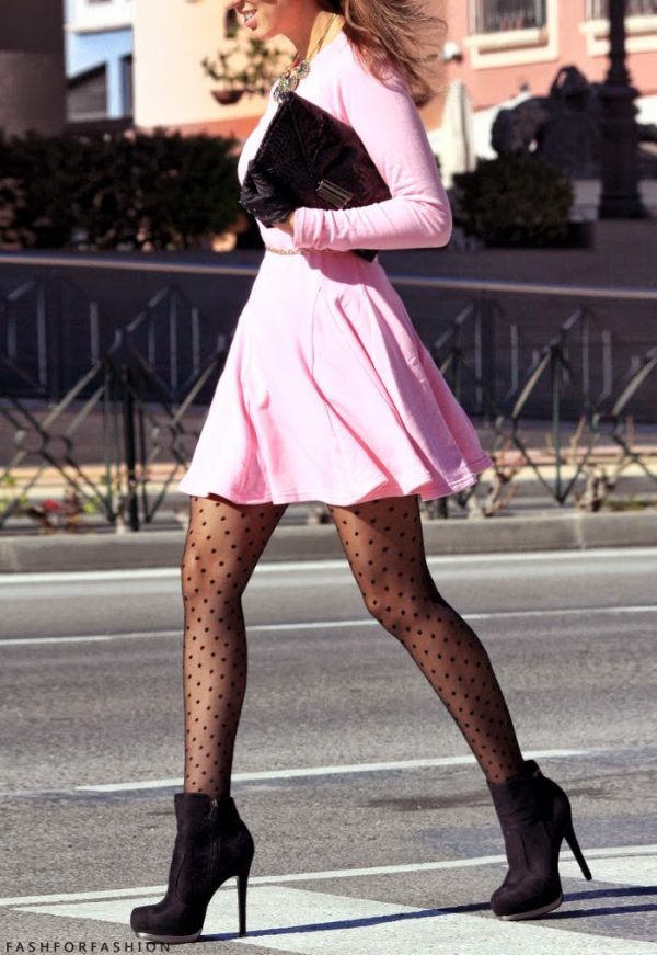 ankle boots with pink dress bmodish