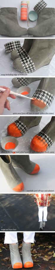 diy cap toe booties bmodish
