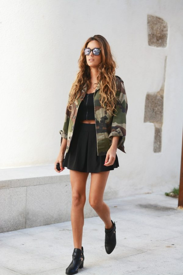 camo with ankle boots bmodish