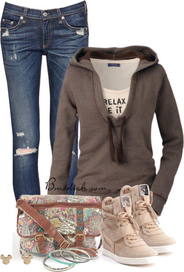 casual school outfit idea bmodish