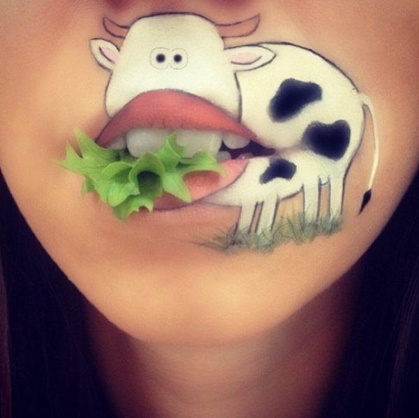 cute cow makeup bmodish
