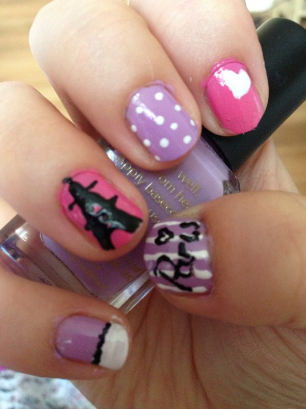 cute i love paris nail design bmodish