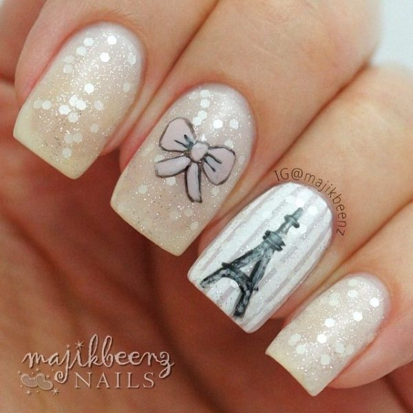 Cute I Love Paris Nail Art Collections Be Modish