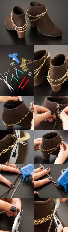 diy chain booties bmodish