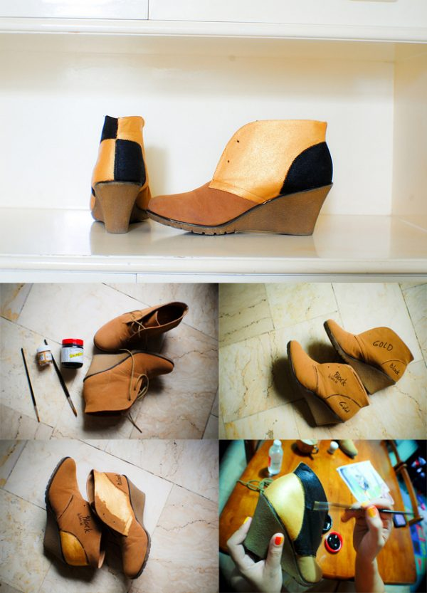 diy color block booties