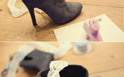 diy lace trim booties bmodish