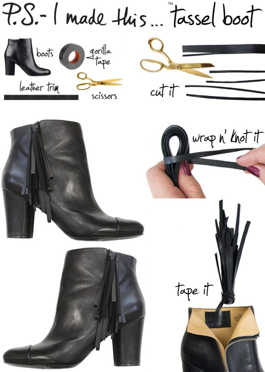 diy tassel booties