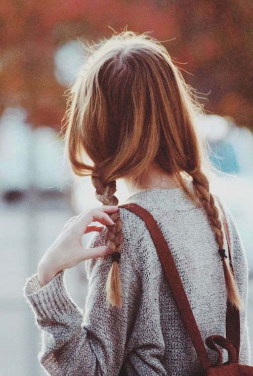 double braid back to school hairstyles for long hair