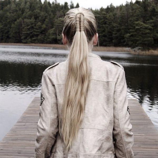 fishtail into ponytail bmodish