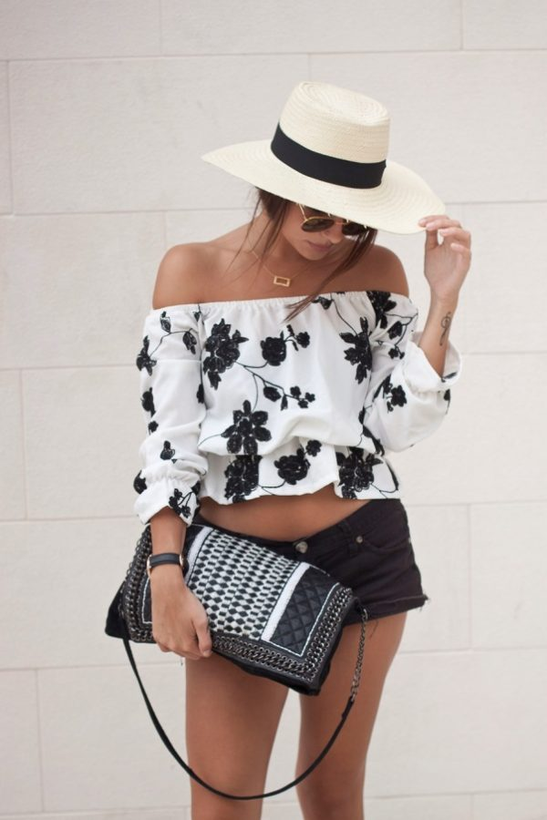 floral blouse with short bmodish