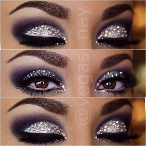 glitter eye makeup instagram bmodish