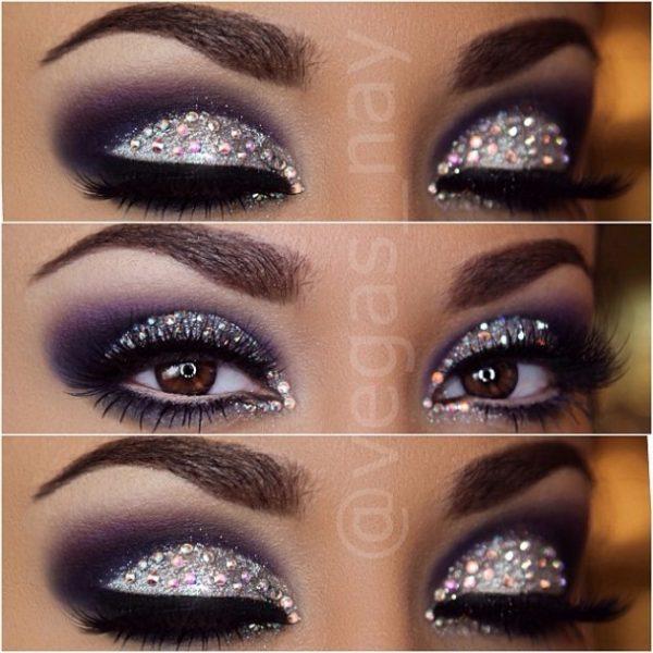 glitter eye makeup instagram bmodish