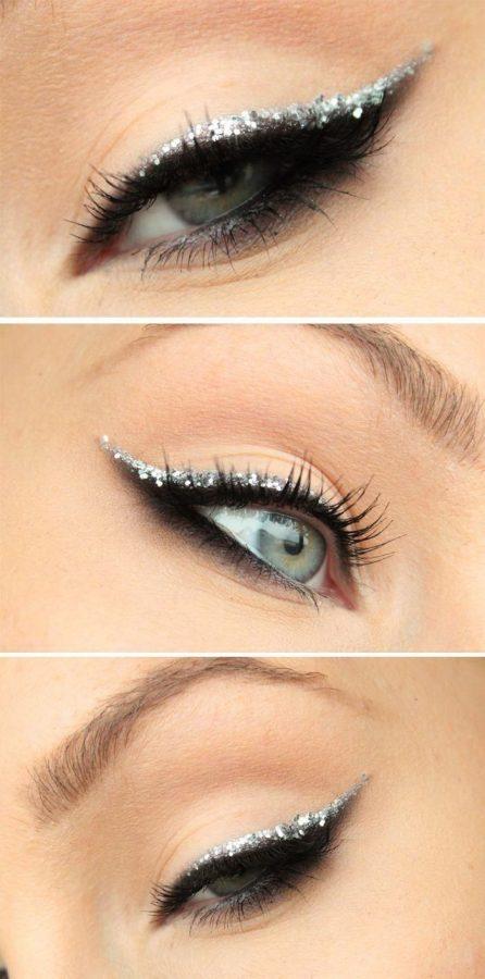 glitter line eye makeup bmodish