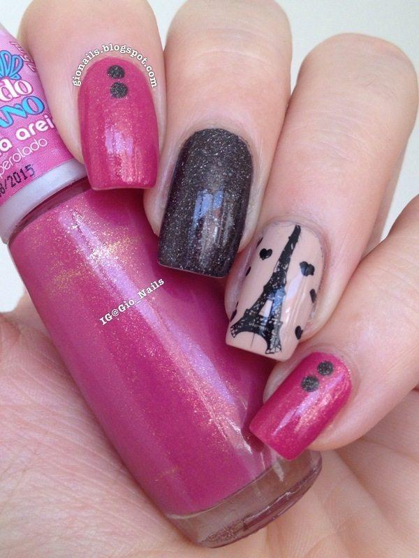 i love paris nail design bmodish