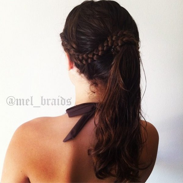 lace braid into ponytail bmodish
