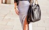 maxi skirt, black leather jacket and ankle boots bmodish