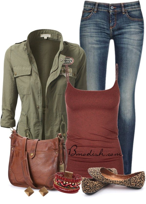 military cardigan casual school outfit bmodish