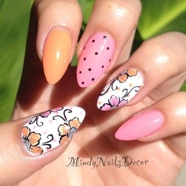 mothers day almond nails bmodish