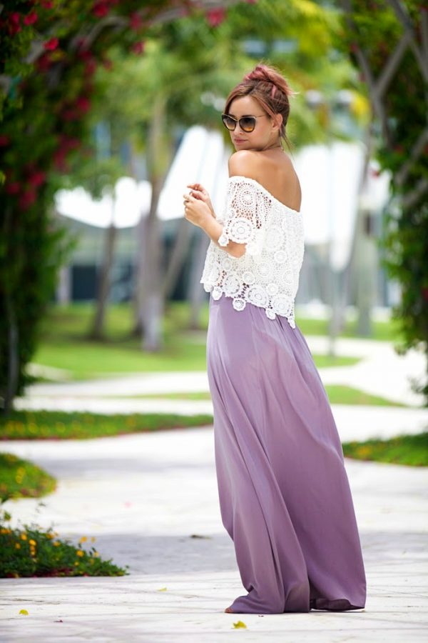 lace top with maxi skirt bmodish