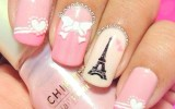 pink i love paris nailart bmodish
