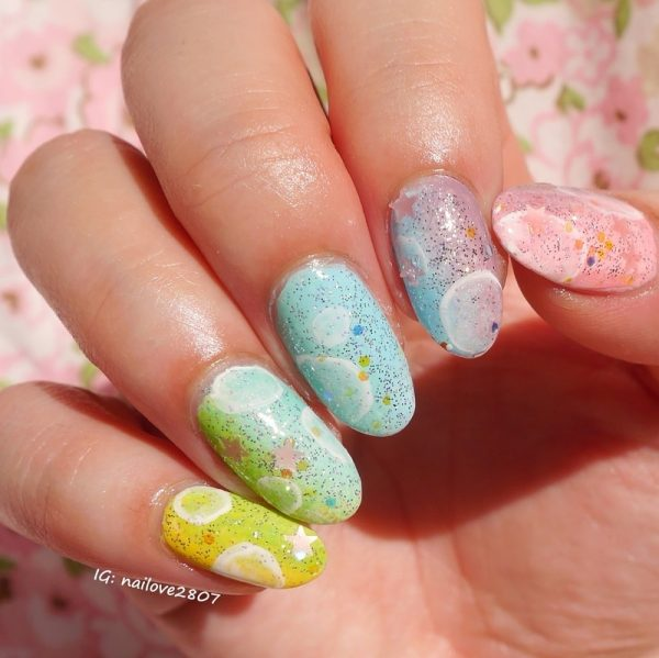 rainbow almond nails bmodish