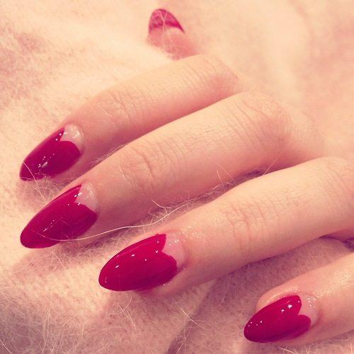 red almond nails bmodish