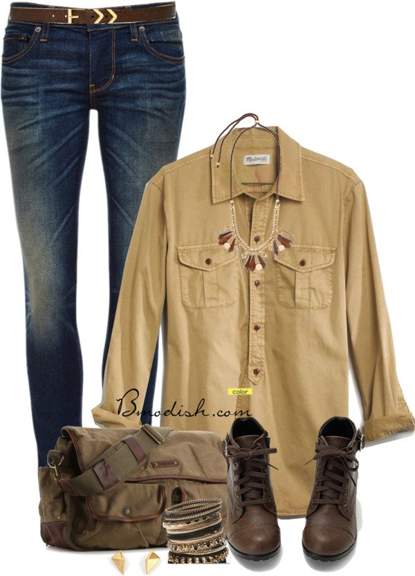 simple school outfit with long shirt bmodish