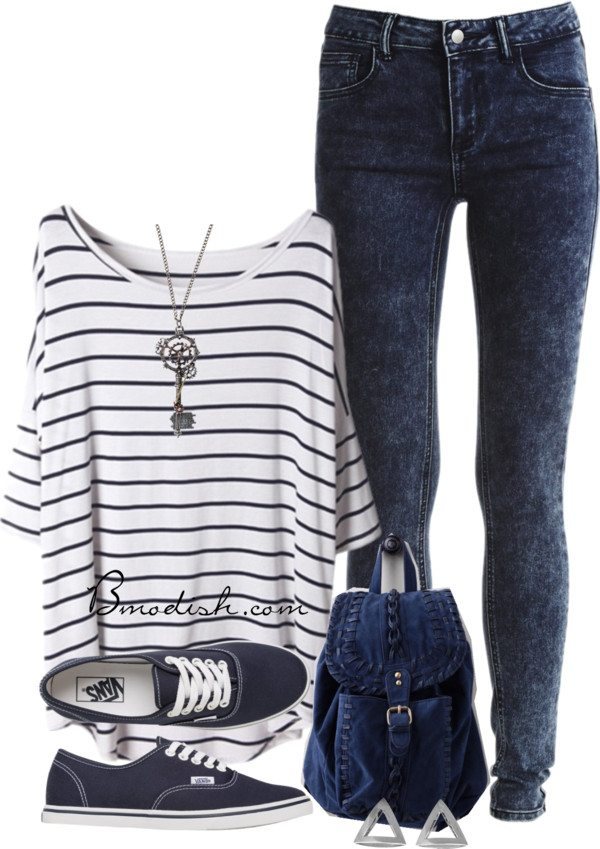stripe oversize shirt with leggings outfit idea bmodish