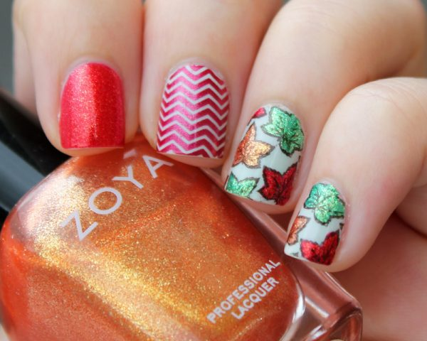 Fall Leaves nail decal bmodish