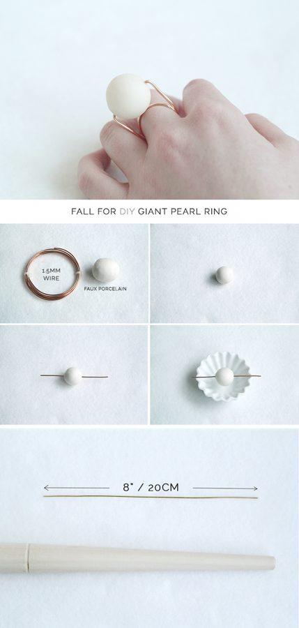 Giant-Pearl-Ring-DIY 1 bmodish