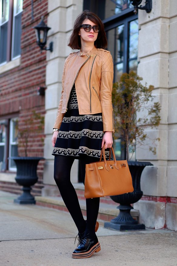 brown leather jacket for fall fashion bmodish