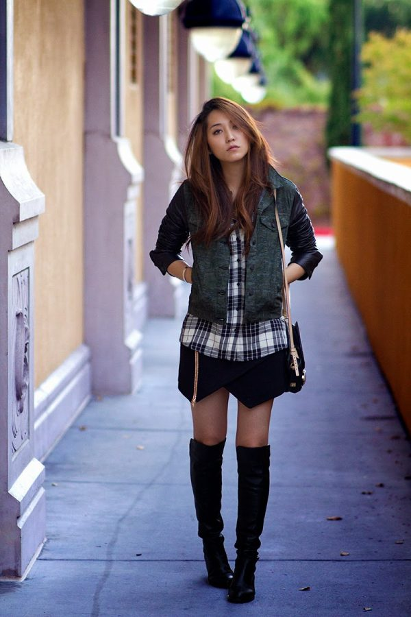 casual outfits with over the knee boots bmodish