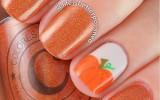 fall pumpkin nailart bmodish