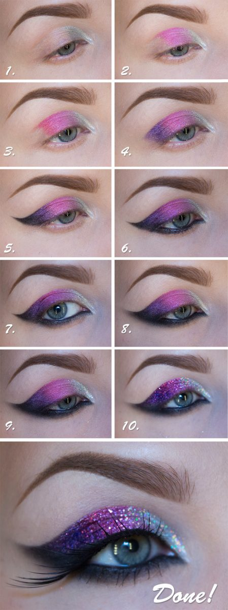 galaxy purple eye makeup tutorial bmodish