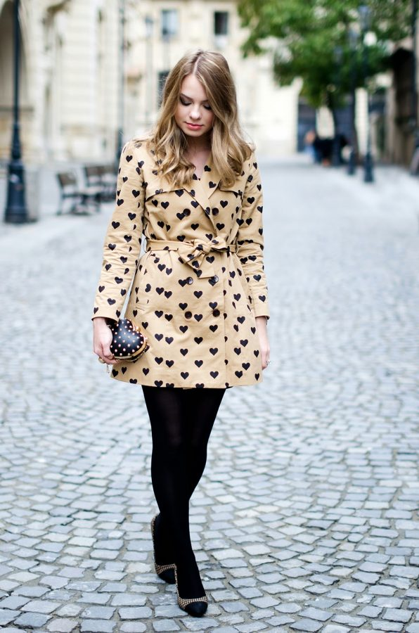 heart brown trench coat for fall bmodish
