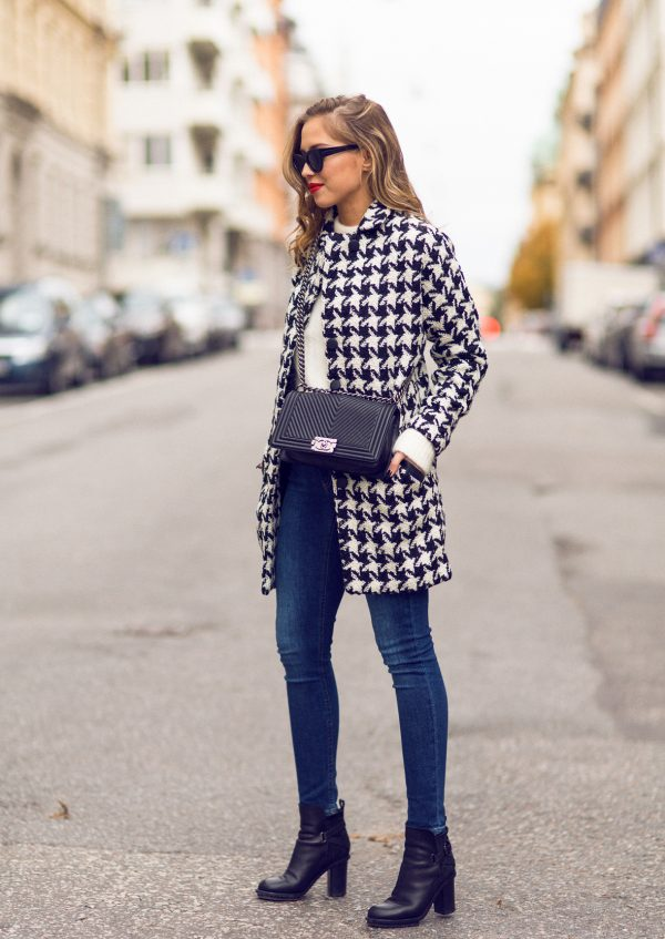 houndstooth coat for fall bmodish