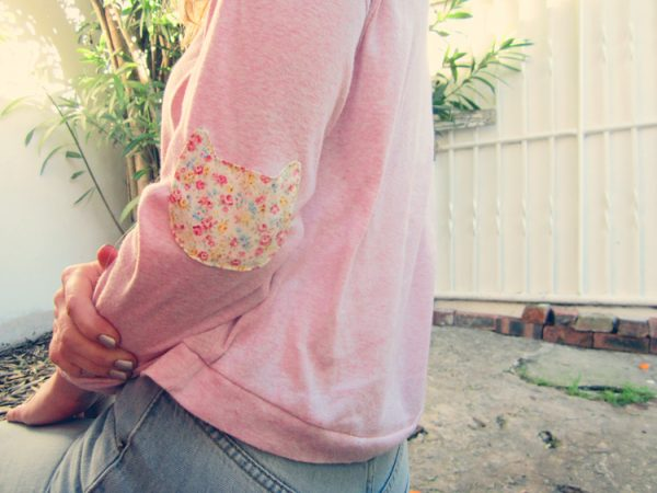 kitty cat elbow patch diy bmodish