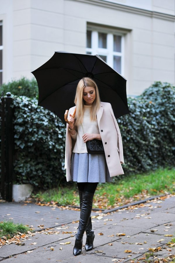 how to wear over the knee boots with skirt bmodish
