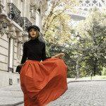 maxi pleated maxi skirt for fall bmodish