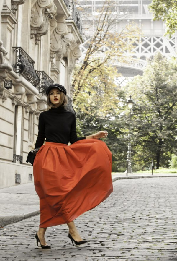 maxi pleated maxi skirt for fall bmodish