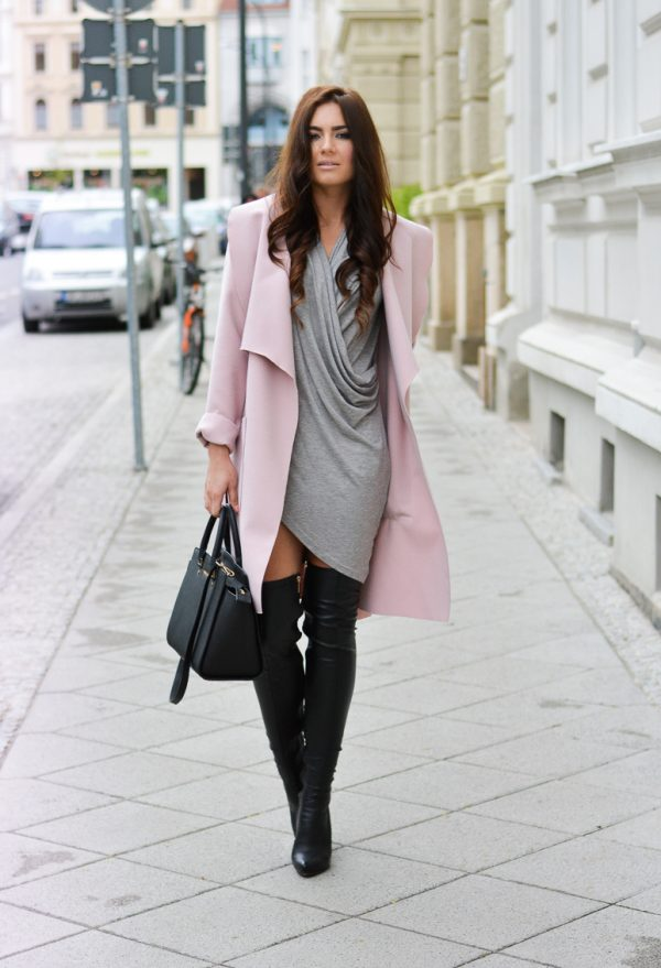 15 Style Ideas How To Wear Over The Knee Boots For Early Fall - Be ...