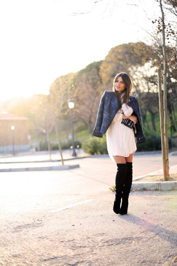 how to wear over the knee boots with dress bmodish