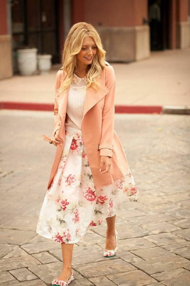 pastel trench coat bmodish